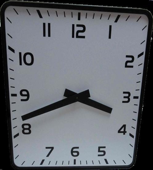 Picture of Jednostrani pravokutni analogni sat 80 cm ELAK EAC1080R